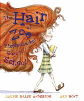 The Hair of Zoe Fleefenbacher Goes to School book cover