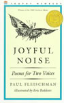 Joyful Noise: Poems for Two Voices book cover
