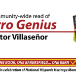 """advertisement for the community-wide read of """"Burro Genius"""" by Victor Villasenor"""