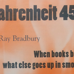 "book cover ""Fahrenheit 451"" by Ray Bradbury"
