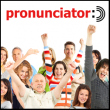 heading 'pronunciator' and eleven adults