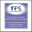 advertisement for 'Tuition Funding Sources: Scholarship Database with $41 Billion in Awards. Career Personality Test and Detailed College & Career Information'