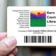 picture of a Kern County Library Card