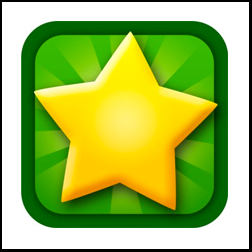 green square with a yellow star in the center