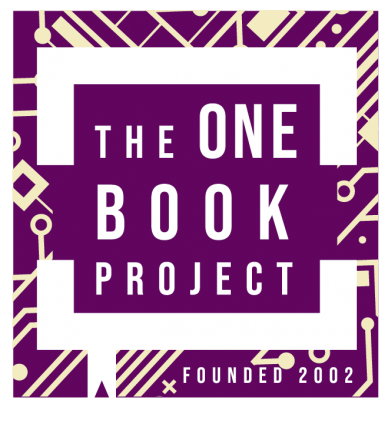 logo: The One Book Project Founded 2002