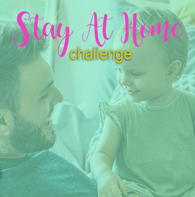 image: Stay At Home Challenge Man looking at a young child