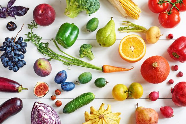 image of various fruits and vegetables