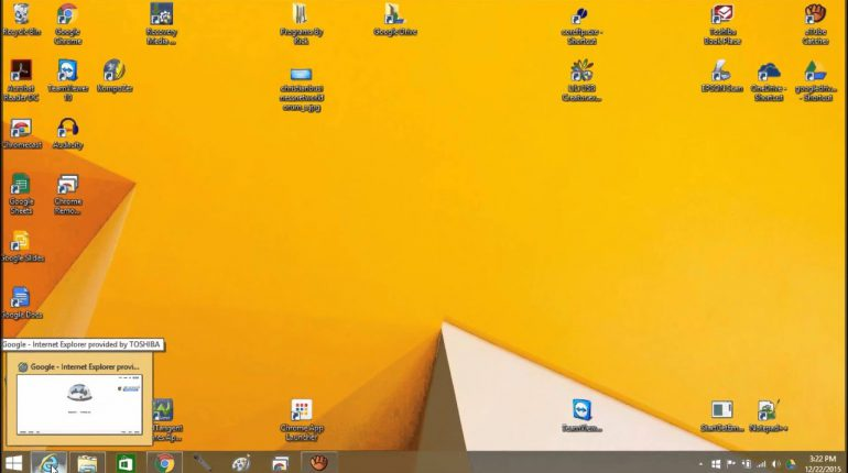 image of a computer desktop with various icons