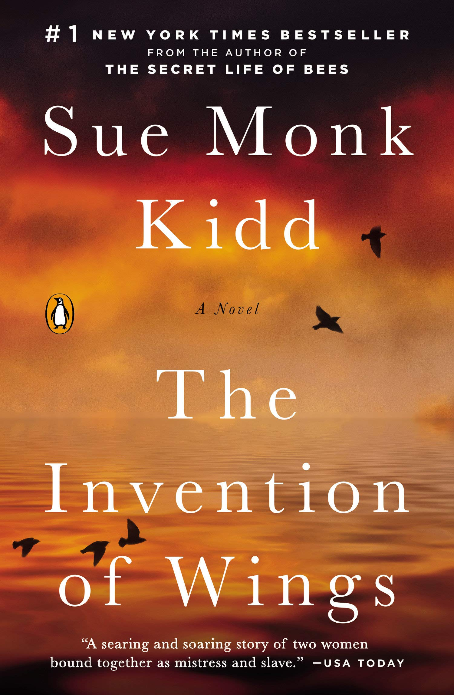 """Book Cover """" The Invention of Wings"""" by Sue Monk Kidd"""