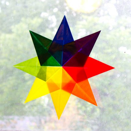 Rainbow Star Window Cling & Color Theory